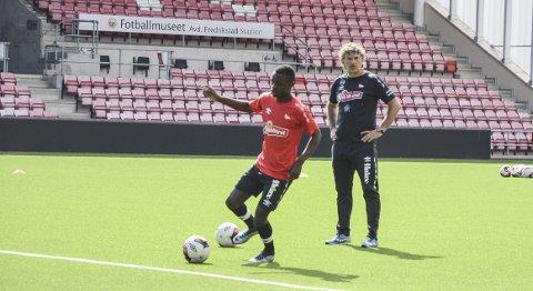 FFK-aktuell: Sarpsborg 08s Brice Wembangomo er aktuell for FFK. BEGGE FOTO: Henrik Myhrvold Simensen
