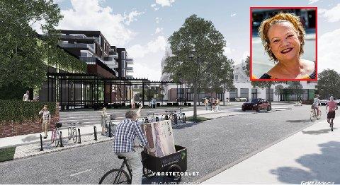 SIER NEI: Camilla Eidsvold (SV) sier nei til kjøpesenter på Værste. Hun mener det er mer fremtidsrettet å satse på et opplevelsessenter.