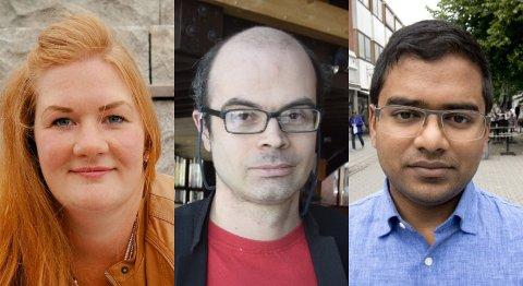 Anne Lise Fredlund, Hans Olav Lahlum og Mizanur Rahaman peker seg ut som listetopper for Oppland SV.
