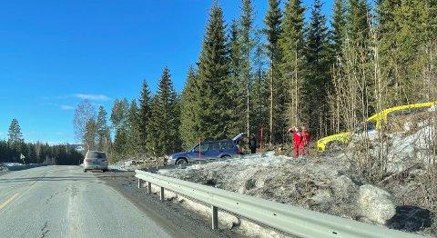 To biler kjørte i autovernet like sør for kommunegrensa.