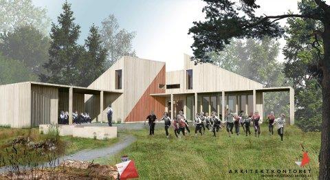 Arkitekttegning o-hytta hytte djupadalen