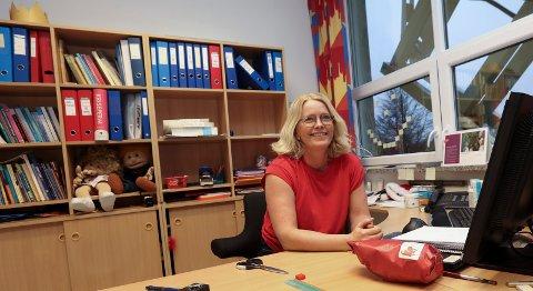 Rektor på Grinde skole, Astri Knudsen Eliassen er spent på hva som venter henne på Solvang barneskole i Haugesund.