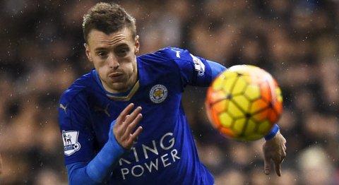 GOALGETTER: Jamie Vardy har vært sentral for Leicester sensasjonelle sesong.