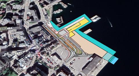 STIEN LANGS SJØEN: Det skal tilrettelegges for at Stien langs sjøen skal nå inn midt i sentrum i området som kan få en helt ny framtoning enn du kjenner i dag.