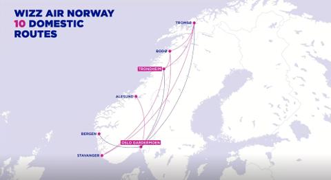 Wizz Air satser på innenriksflygninger i Norge, men har bommet på samtlige byer.
