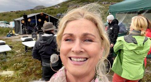 PÅ PLASS: Tine Skolmen fra Imingfjellfestivalen.
