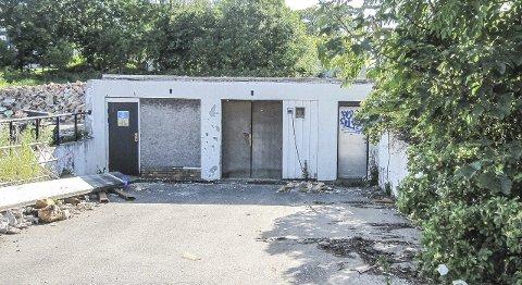 Fundament: Underetasjen står igjen og vil inngå som en del av det nye boligkomplekset.