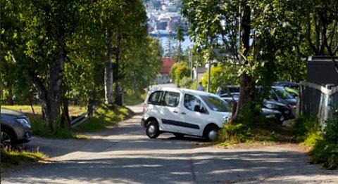 Slik fant politiet bilen. Foto: Politiet