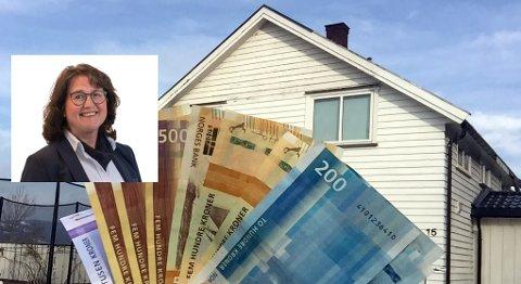 MANGE ER BEKYMRET: Åse Øye er banksjef for privatmarkedet i Totens Sparebank. Hun forteller at de får mange henvendelser fra kunder som vil utsette lånebetalinger..