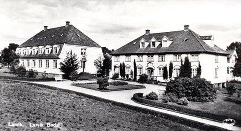"""DR. KNUDTZONS VEI. Farris Bads villaer ved Dr. Knudtzons vei fotografert i 1920-åra. """"Villa Russia"""" (t.v.) og """"Villa Fenia""""."""