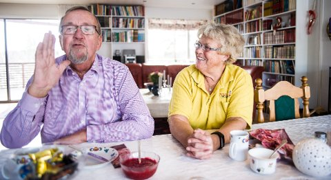NYTT LIV: Yngve Hågensen og Hanna Marie Foldvik har kjent hverandre i snart fire år og er enige om at livet har fått en ny dimensjon for dem begge.