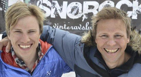Lover fart og spenning: Kristoffer Grøtan Olsen (til venstre) og Svein Ivar Moen.