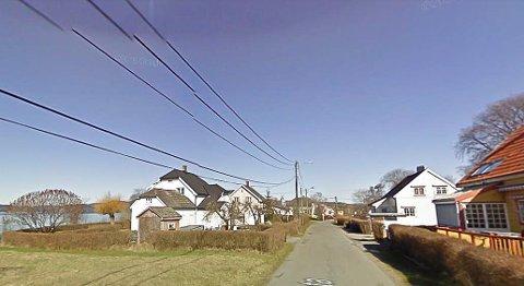 FRIAREAL: Det er i denne gata at naboene vil bevare friareal.