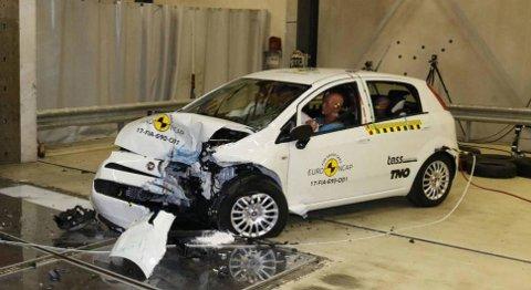 Fiat Punto fikk null stjerner i test hos Euro NCAP i fjor. Bilen var da 13 år gammel, det viser hvor mye det kan ha å si for sikkerheten.