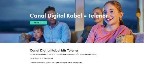 DIREKTE OMDIRIGERT: Fa nå blir du som kabelkunde hos Canal Digital direkte sendt videre til Telenor.