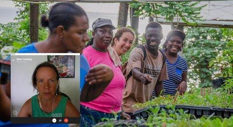 ENDRING: Korona har ført til store endringer for Richmond Vale Academy, so styres av Stina Herberg (innfelt via Skype). De har måttet starte egen grønnsakskurs for lokalbefolkningen.