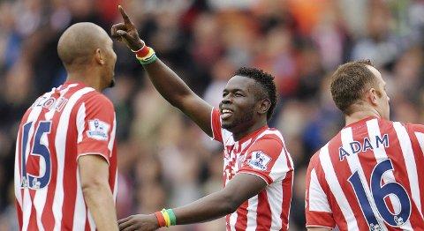 Vår oddstipper tror at Mame Biram Diouf og Stoke fortsetter å vinne i lørdagens kamp.