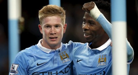 "Football - Manchester City v Crystal Palace - Capital One Cup Fourth Round - Etihad Stadium - 28/10/15 Manchester City's Kevin De Bruyne celebrates scoring their second goal with Kelechi Iheanacho Reuters / Andrew Yates Livepic EDITORIAL USE ONLY. No use with unauthorized audio, video, data, fixture lists, club/league logos or ""live"" services. Online in-match use limited to 45 images, no video emulation. No use in betting, games or single club/league/player publications.  Please contact your account representative for further details."