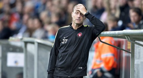 FC Midtjyllands trener Jess Thorup fortviler etter 1-2-nederlaget mot Apoel i Mesterliga-kvaliken. I kveld møter de formsterke OB i Superligaen.