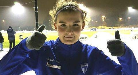 SCORER OG SCORER: Askim-jenta Julie Hoff Klæboe har scoret fem mål på to kamper for Kolbotn. FOTO: PRIVAT