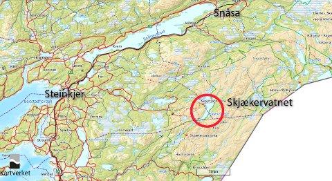 Skjækervatnet: De fire hyttene ligger ved skjækervatnet i Skjækra. Konkret dreier det seg om med leiekjøring inn til hyttene Skjækervatnet 18, 19 og 20 i Steinkjer kommune, og Skjækervatnet 22 (Gomolia) i Snåsa kommune.