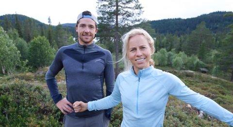 BYGGEKLARE: Tiril Eckhoff og Ånund Lid Byggland har fått seg hyttetomt i Høydalsmo. Nå blir det bygging på stedet der sistnevnte vokste opp. Foto: Privat