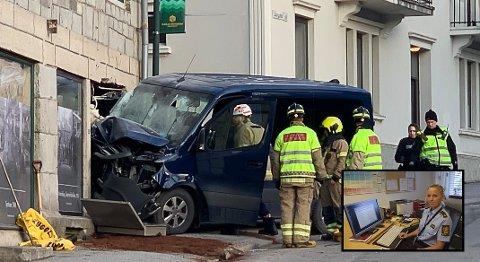 ETTERFORSKER: Politiet etterforsker fortsatt den tragiske ulykken i Storgata på Notodden for tre uker siden. Innfelt: Avdelingsleder Trine Haugeberg ved Notodden politistasjon.