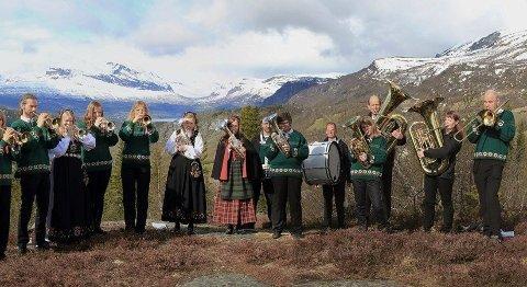 UTEKONSERT: Fjellblom musikklag arrangerer drive-in konsert i samband med markeringa av 75-årsjubileet for frigjeringa komande fredag.