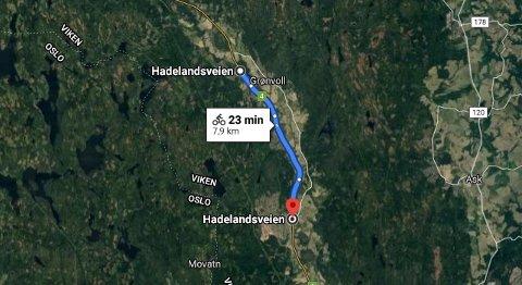 OPPGRADERES:Den 8 kilometer lange gang- og sykkelveien fra Rotnes til Hakadal der det neste uke skal legges ny asfalt.