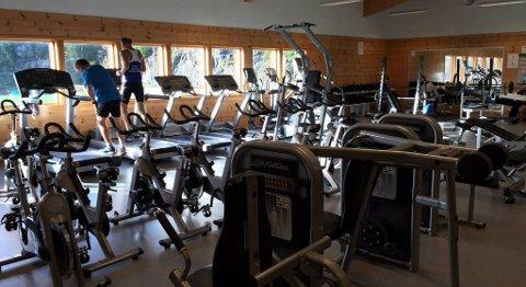Slik ser det ut i det flittig brukte treningsrommet i Meland Aktiv. FOTO: SVEIN TORE HAVRE