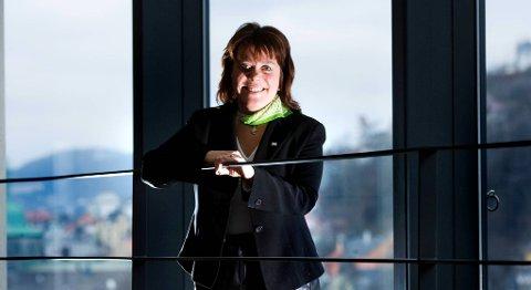 Direktor i Innovasjon Norge Hordaland, Nina Broch Mathisen, er glad for at flere bedrifter vil satse på omstilling. – De må skape noe nytt og ikke bare kutte, sier hun. FOTO: BA