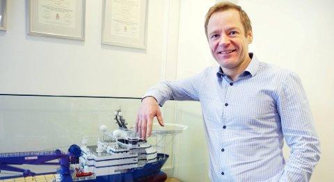 Mons Svendal Aase, konsernsjef i Dof ASA, er godt fornøyd med kontraktene Dof Subsea har inngått de siste månedene. FOTO: BA