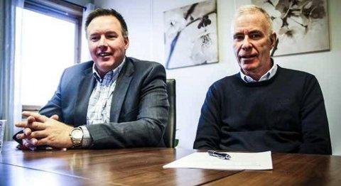 Børge Brundtland (til venstre) i Industriutvikling Vest og Svein M. Nordvik i Nordhordland Handverk- og Industrilag kan tilby kurs i nyskaping og utvikling. Profesjonelle kurshaldarar skal kunna hjelpa verksemder til utvikling av nye produkt og tenester og til å finna nye marknader. Effektivisering og klyngebygging vert også tema.