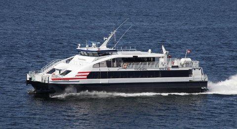 Norled vil ifølge Keynoter bruke en katamaran med plass til 300 passasjerer hvis selskapet starter dagscruise mellom Key Wets og Cuba. Bildet viser Tideadmiral. FOTO: NORLED
