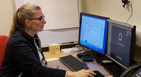 TAR I BRUK VIDEO: Sykehuset Østfold Moss tar konsultasjoner over video med pasientene ved diabetespoliklinikken.