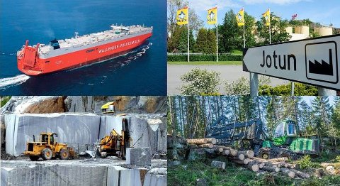 SKAPER RIKDOM: Jotun i Sandefjord, Wilhelmsen-rederiet som opprinnelig startet i Tønsberg, samt skog og stein i og rundt Larvik er grunnlaget for de fleste av Vestfolds største formuer.