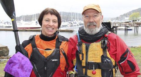 Ledere: Lærer Wera Åkeson og leder i Drøbak Kajakklubb, Richard Meadow samarbeider om kajakkundervisningen.