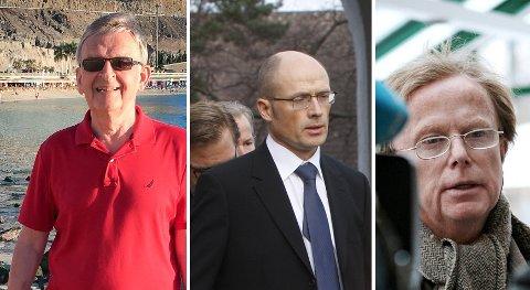Fra venstre: Ivar Løge, Jan Nagell-Erichsen og Petter Olsen er blant Norges 400 rikeste.
