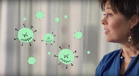 Helen Bradstorp, Divisjonsdirektør i Helsedirektoratet, svarer på spørsmål om koronaviruset.
