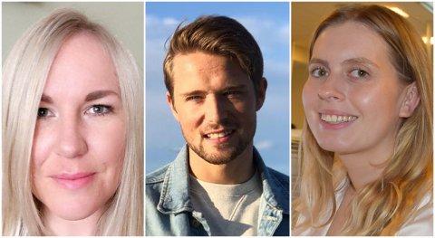 ANSATT: Avisa Oslo har rekruttert Anita Bakk Henriksen (fra venstre), Alexander Sætre og Eveline Røsholt-Hanssen som nye frontsjefer.