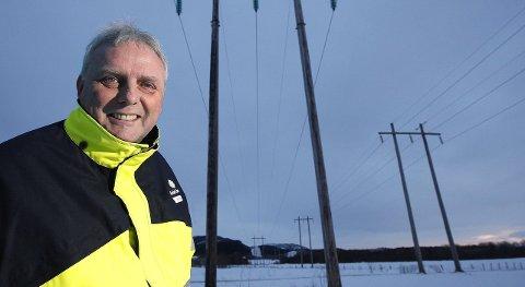 20–25 øre: Adm.dir. i Bodø Energi, Arne Juell, tror også på lav strømpris framover. Foto: Tom Melby