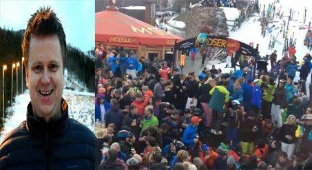 Humorstikk: Bjørnar Hegreberg med gjengen sin i alpinparken synes det er viktige å holde humøret oppe, og derfor har de nå lagt ut en post på sosiale medier for å bidra til nettopp det.