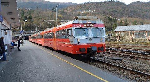Toget til Voss er blant linjene som rammes av streiken.