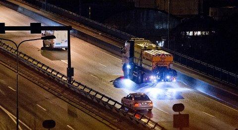 Det saltes flere steder i Hordaland lørdag kveld. (Arkivfoto)