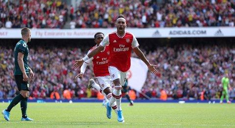 Pierre-Emerick Aubameyang har scoret tre mål på de fire første kampene for Arsenal.
