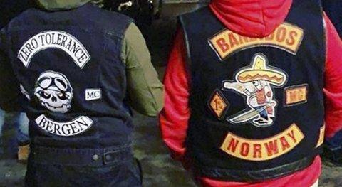 MC-klubben de to siktede leder, hadde i februar i år treff med Bandidos. Dette bildet ble da delt på Instagram.