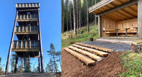Det blir to nyåpninger i Enebakkskogen i Ytre søndag 1. november. Det nye utkikkstårnet på Mjærskaukollen står ferdig og Bråtanhuken, en ny gapahuk ved Bråtanstua, er også bygget. Alt er bygget på dugnad!