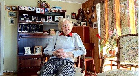 Det siste tidsvitnet: Magnhild Bråthen fra Råde var det siste tidsvitnet på reisene til Hvite Busser til konsentrasjonsleirene i Tyskland. 91-åringen sovnet inn tirsdag.