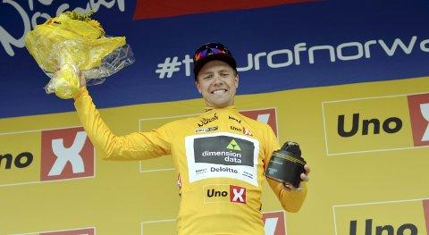 SEIER: Edvald Boasson Hagen sikret seg en etappeseiere under Tour of Norway 2018, men eller var sesongen litt under pari for syklisten fra Rudsbygd.