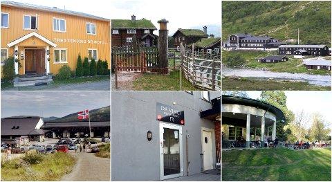 Disse stedene var noen av serveringsstedene Mattilsynet besøkte i løpet av juni og juli.